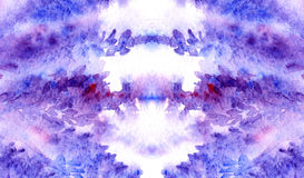 Textura floral carmesim roxa violeta do fundo da alfazema da aquarela Foto de Stock