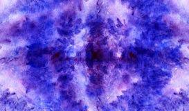 Textura floral carmesim roxa violeta do fundo da alfazema da aquarela Imagens de Stock