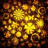 Textura floral da tela de Grunge Imagem de Stock
