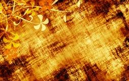 Textura floral de Grunge ilustração stock