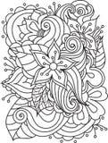 Textura floral desenhado à mão abstrata do vetor ilustração stock