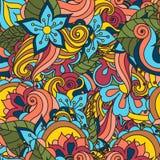 Textura floral desenhado à mão abstrata do vetor ilustração royalty free