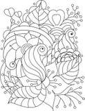Textura floral desenhado à mão abstrata do vetor Foto de Stock
