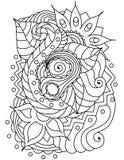 Textura floral desenhado à mão abstrata do vetor Fotografia de Stock Royalty Free