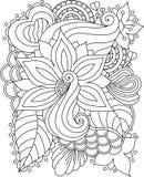 Textura floral desenhado à mão abstrata do vetor Fotos de Stock