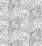 Textura floral desenhado à mão do sumário sem emenda do vetor Foto de Stock Royalty Free