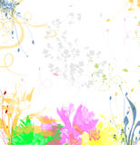 Textura floral do fundo ilustração royalty free