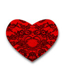Textura floral do laço fino preto Foto de Stock Royalty Free