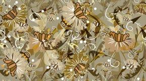 Textura floral inconsútil stock de ilustración