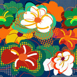 Textura floral inconsútil abstracta stock de ilustración