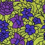 Textura floral inconsútil con las flores azules púrpuras Imagenes de archivo