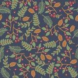Textura floral inconsútil de Christmass Fotografía de archivo libre de regalías