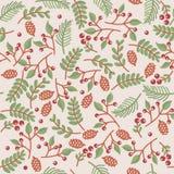 Textura floral inconsútil de Christmass Foto de archivo libre de regalías