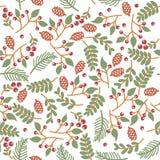 Textura floral inconsútil de la Navidad Fotos de archivo libres de regalías