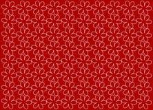 Textura Flores no fundo vermelho Imagens de Stock Royalty Free