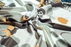 Textura, fondo, modelo Modelo abstracto de seda del paño Ricketts Waterfall en cala de la cocina es una cascada de conexión en ca Foto de archivo libre de regalías