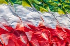 Textura, fondo, modelo Banderas que agitan en el viento Decorati Foto de archivo