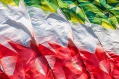 Textura, fondo, modelo Banderas que agitan en el viento Decorati Fotos de archivo libres de regalías