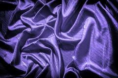 Textura, fondo, modelo color de seda del azul del paño Adorne el yo imagenes de archivo