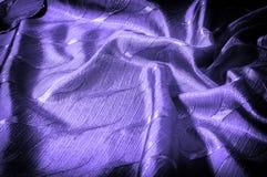 Textura, fondo, modelo color de seda del azul del paño Adorne el yo foto de archivo libre de regalías