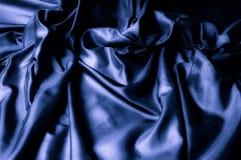 Textura, fondo, modelo Tela de seda azul marino Diseñador So Fotos de archivo