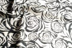 Textura, fondo, modelo Una bufanda de lana, blanco y negro, r Imagen de archivo libre de regalías