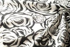 Textura, fondo, modelo Una bufanda de lana, blanco y negro, r Foto de archivo libre de regalías