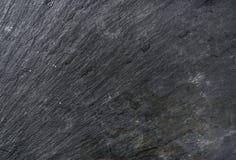 Textura, fondo o papel pintado negro viejo de la piedra de la pizarra Fotos de archivo libres de regalías
