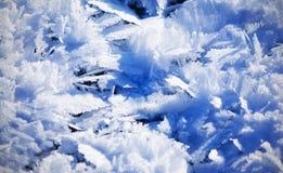 Textura fria azul do fundo da folha de gelo Foto de Stock