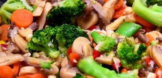 Textura fritada dos vegetais Fotografia de Stock Royalty Free