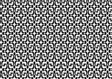 Textura frontal do vintage sem emenda decorativo do fundo do vetor do teste padrão preto e branco Fotos de Stock Royalty Free