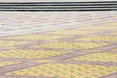 A textura, fundo, área colorida alinhou com, pavimentos Fotos de Stock