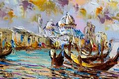Textura, fundo Pintura na lona pintada com pinturas de óleo Fotos de Stock