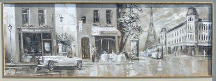 Textura, fundo Pintura na lona pintada com pinturas de óleo Imagem de Stock