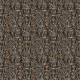 Textura/fundo sem emenda feito dos anéis Fotografia de Stock Royalty Free