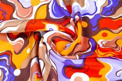 textura, fundo, tela de seda de uma coloração abstrata Resumo fotos de stock