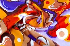 textura, fundo, tela de seda de uma coloração abstrata Resumo fotografia de stock royalty free