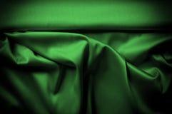 Textura, fundo, teste padrão A seda da tela é escura - verde expresse ilustração do vetor