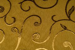 Textura, fundo, teste padrão Tela do damasco com testes padrões brilhantes Fotografia de Stock