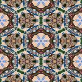 Textura generada inconsútil caleidoscópica de los alquileres del punto Fotos de archivo libres de regalías