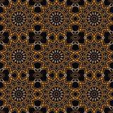 Textura generada inconsútil floral del ornamento del papel pintado Imagen de archivo libre de regalías