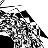 Textura geométrica áspera, nerviosa Illustra blanco y negro abstracto stock de ilustración