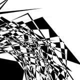 Textura geométrica áspera, nervosa Illustra preto e branco abstrato ilustração stock