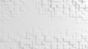 Textura geométrica abstracta de cubos aleatoriamente sacados Stock de ilustración