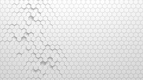 Textura geométrica abstracta de hexágonos aleatoriamente sacados Imagenes de archivo