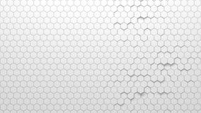 Textura geométrica abstracta de hexágonos aleatoriamente sacados Ilustración del Vector