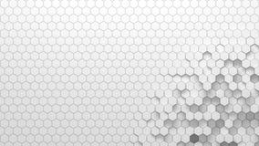 Textura geométrica abstracta de hexágonos aleatoriamente sacados Stock de ilustración
