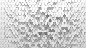 Textura geométrica abstracta de hexágonos aleatoriamente sacados Fotografía de archivo libre de regalías