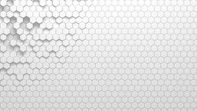 Textura geométrica abstracta de hexágonos aleatoriamente sacados Imágenes de archivo libres de regalías