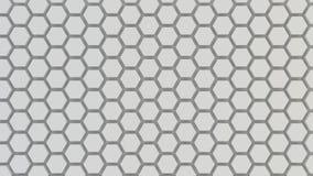 Textura geométrica abstracta de hexágonos aleatoriamente sacados Foto de archivo libre de regalías